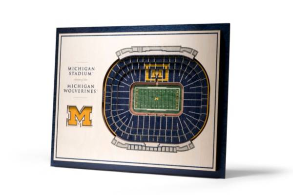 You the Fan Michigan Wolverines 5-Layer StadiumViews 3D Wall Art product image