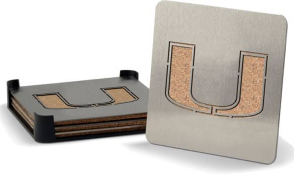 You the Fan Miami Hurricanes Coaster Set product image