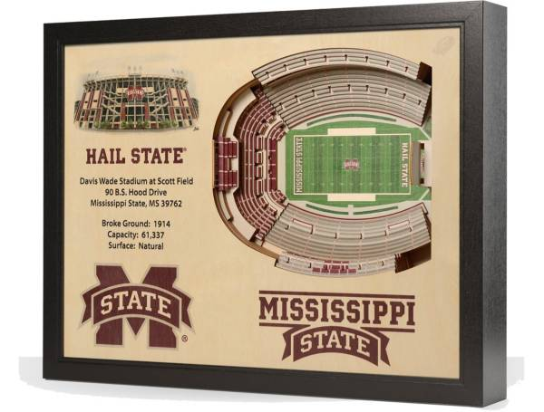 You the Fan Mississippi State Bulldogs 25-Layer StadiumViews 3D Wall Art product image