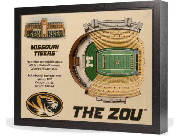 You the Fan Missouri Tigers 25-Layer StadiumViews 3D Wall Art product image
