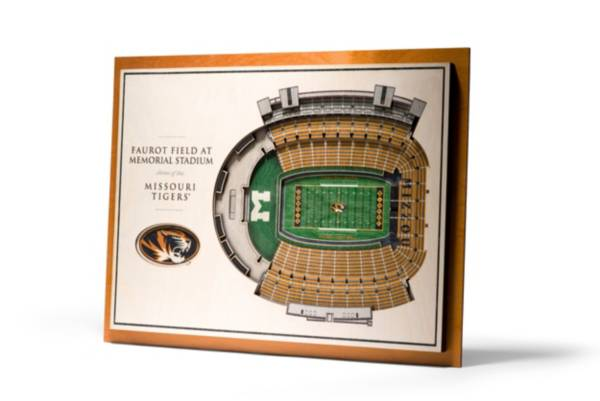 You the Fan Missouri Tigers 5-Layer StadiumViews 3D Wall Art product image