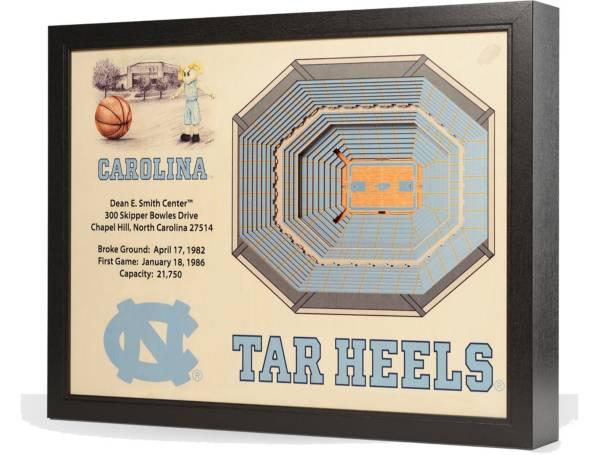 You the Fan North Carolina Tar Heels 25-Layer StadiumViews 3D Wall Art product image