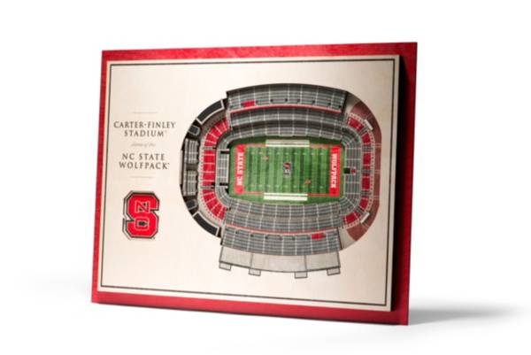 You the Fan North Carolina State Wolfpack 5-Layer StadiumViews 3D Wall Art product image