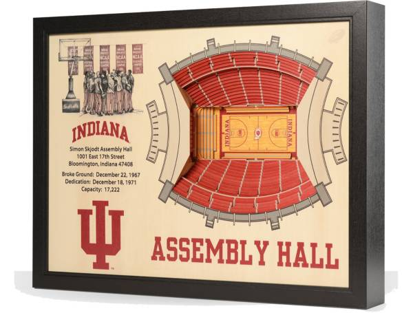 You the Fan Indiana Hoosiers 25-Layer StadiumViews 3D Wall Art product image