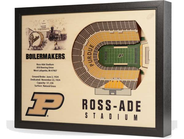 You the Fan Purdue Boilermakers 25-Layer StadiumViews 3D Wall Art product image
