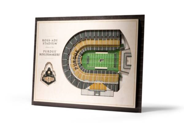 You the Fan Purdue Boilermakers 5-Layer StadiumViews 3D Wall Art product image