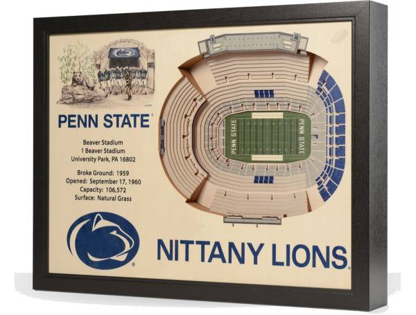 You the Fan Penn State Nittany Lions 25-Layer StadiumViews 3D Wall Art product image