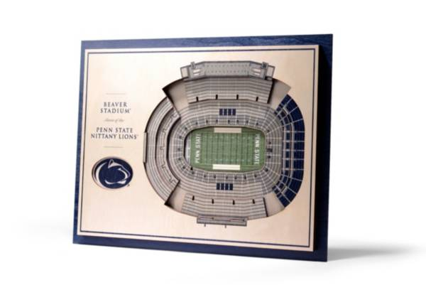 You the Fan Penn State Nittany Lions 5-Layer StadiumViews 3D Wall Art product image