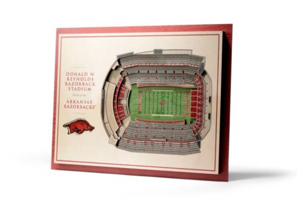 You the Fan Arkansas Razorbacks 5-Layer StadiumViews 3D Wall Art product image