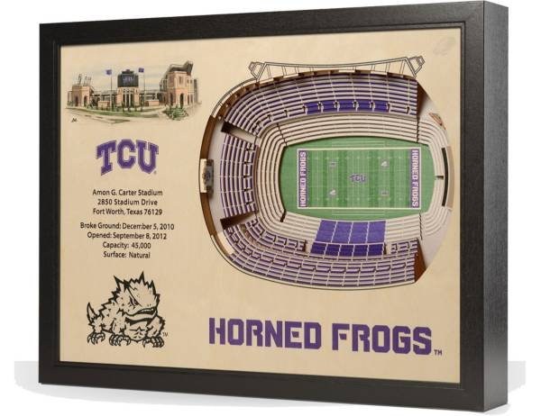 You the Fan TCU Horned Frogs 25-Layer StadiumViews 3D Wall Art product image