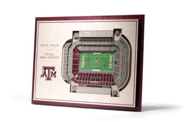 You the Fan Texas A&M Aggies 5-Layer StadiumViews 3D Wall Art product image
