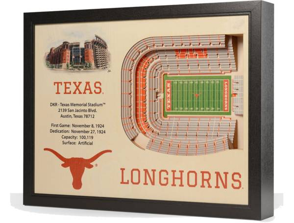 You the Fan Texas Longhorns 25-Layer StadiumViews 3D Wall Art product image