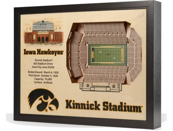 You the Fan Iowa Hawkeyes 25-Layer StadiumViews 3D Wall Art product image