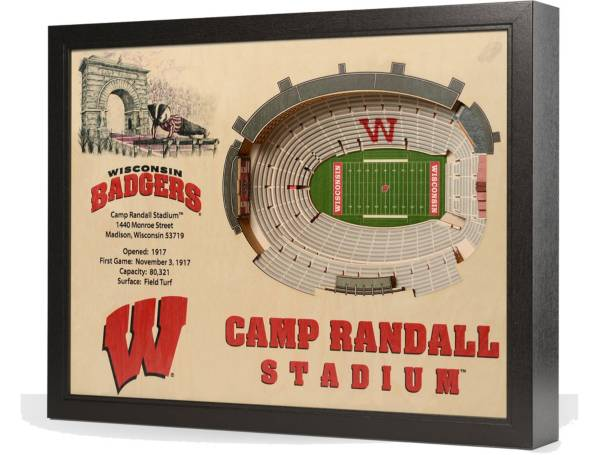 You the Fan Wisconsin Badgers 25-Layer StadiumViews 3D Wall Art product image