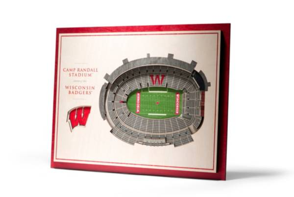 You the Fan Wisconsin Badgers 5-Layer StadiumViews 3D Wall Art product image