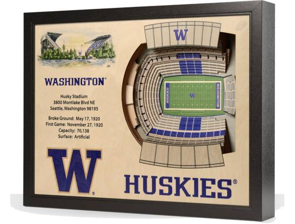 You the Fan Washington Huskies 25-Layer StadiumViews 3D Wall Art product image