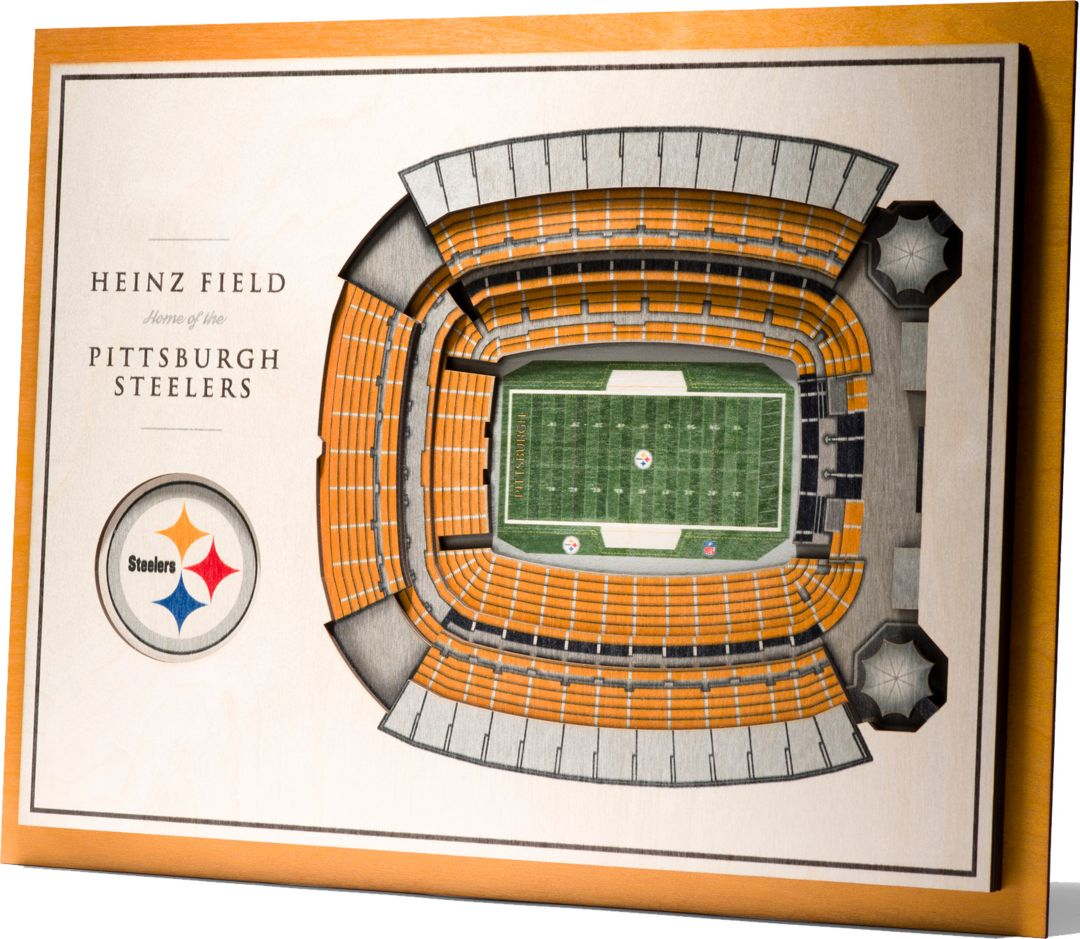 fb883399 You the Fan Pittsburgh Steelers 5-Layer StadiumViews 3D Wall Art