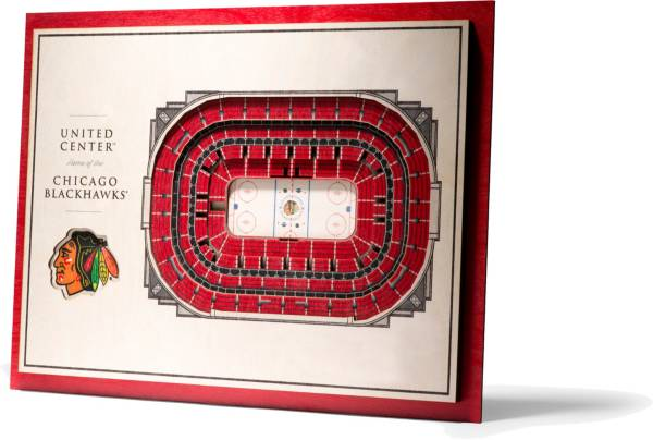 You the Fan Chicago Blackhawks 5-Layer StadiumViews 3D Wall Art product image