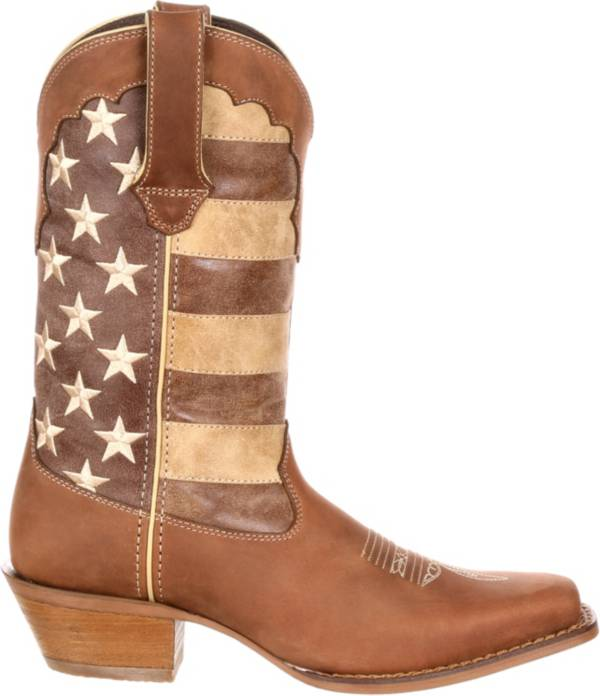 Durango Women's Crush Distressed Flag Western Boots product image
