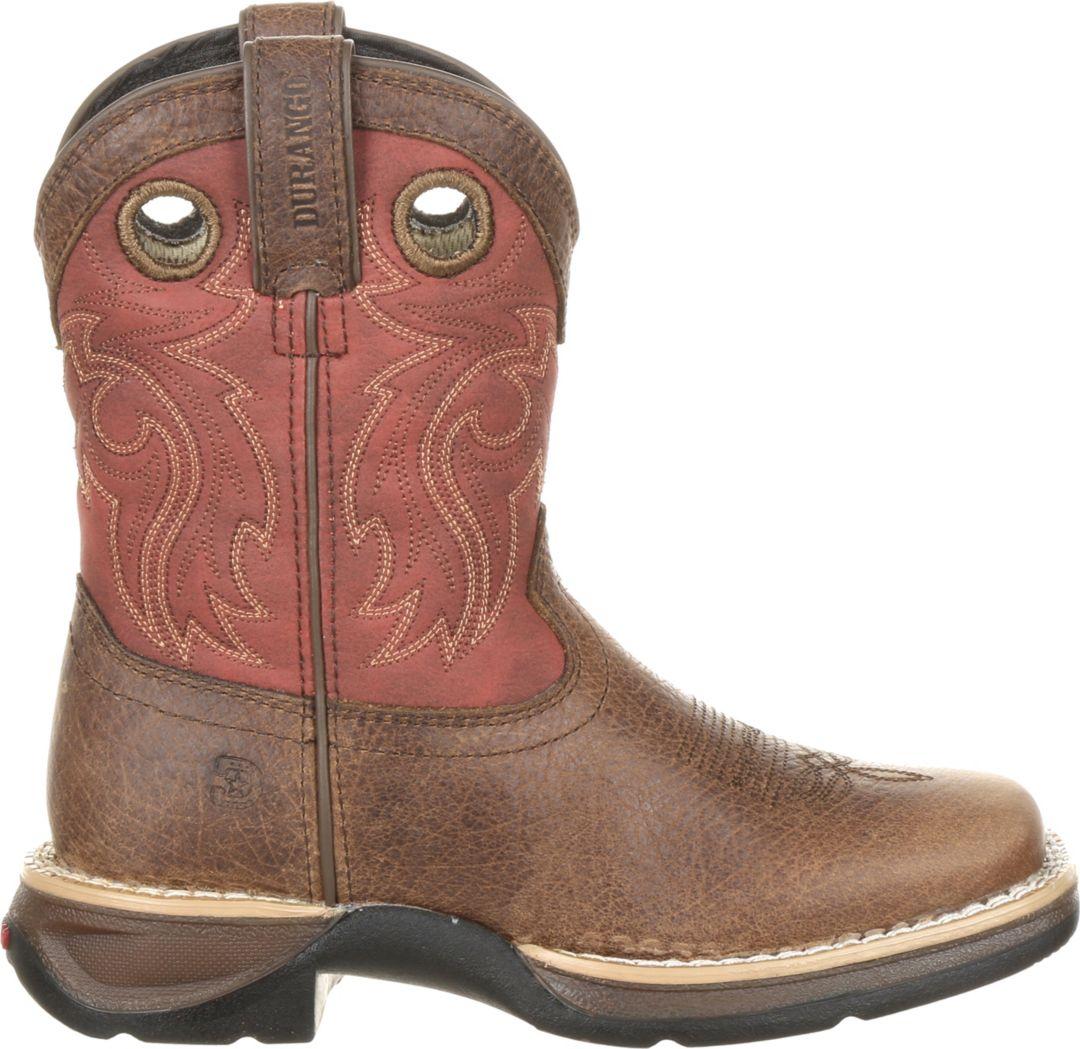 e0b2ddf32b6 Durango Kids' Lil Rebel Waterproof Saddle Western Boots