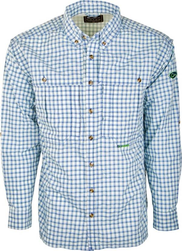 Drake Waterfowl Men's FeatherLite Plaid Wingshooter's Button Down Shirt (Regular and Big & Tall) product image