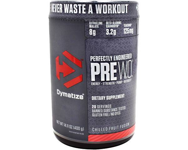 Dymatize PreW.O. Pre-Workout Chilled Fruit Fusion 20 Servings product image