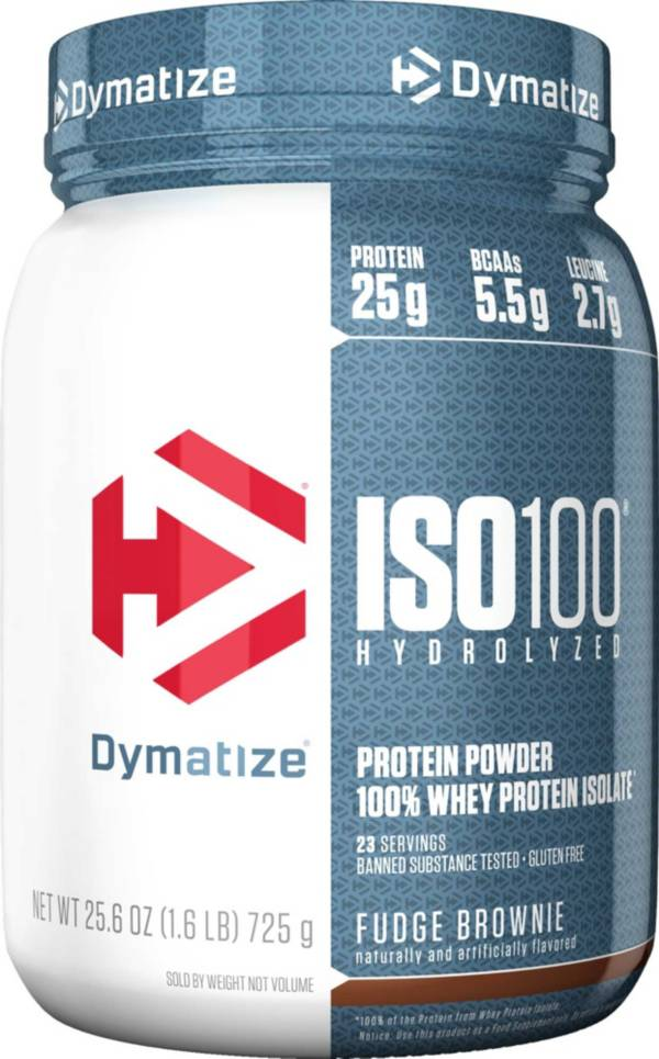 Dymatize ISO100 Hydrolyzed Protein Powder Fudge Brownie product image