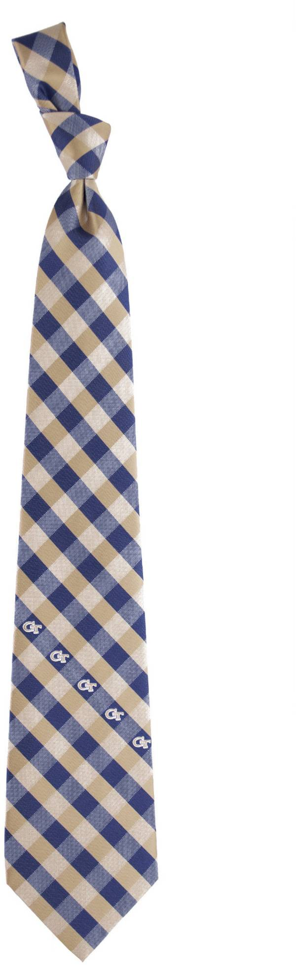 Eagles Wings Georgia Tech Yellow Jackets Check Necktie product image