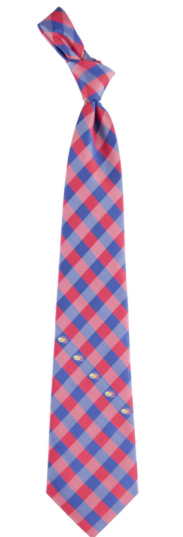 Eagles Wings Kansas Jayhawks Check Necktie product image