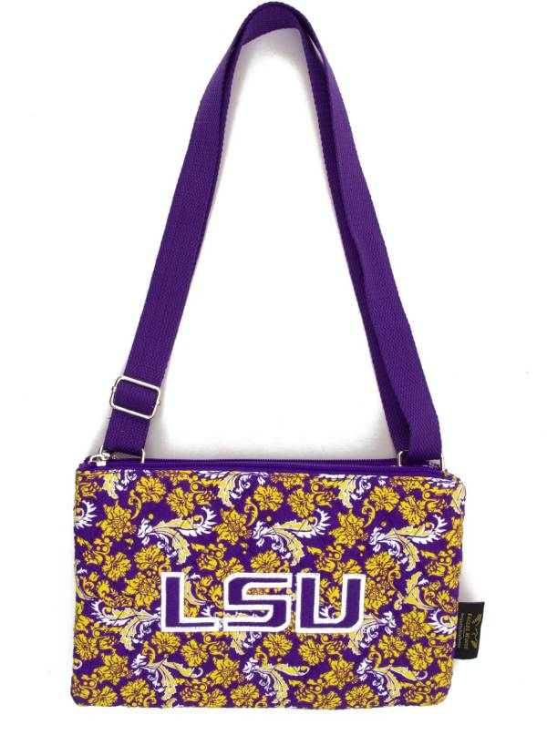 Eagles Wings LSU Tigers Quilted Cotton Cross Body Purse product image
