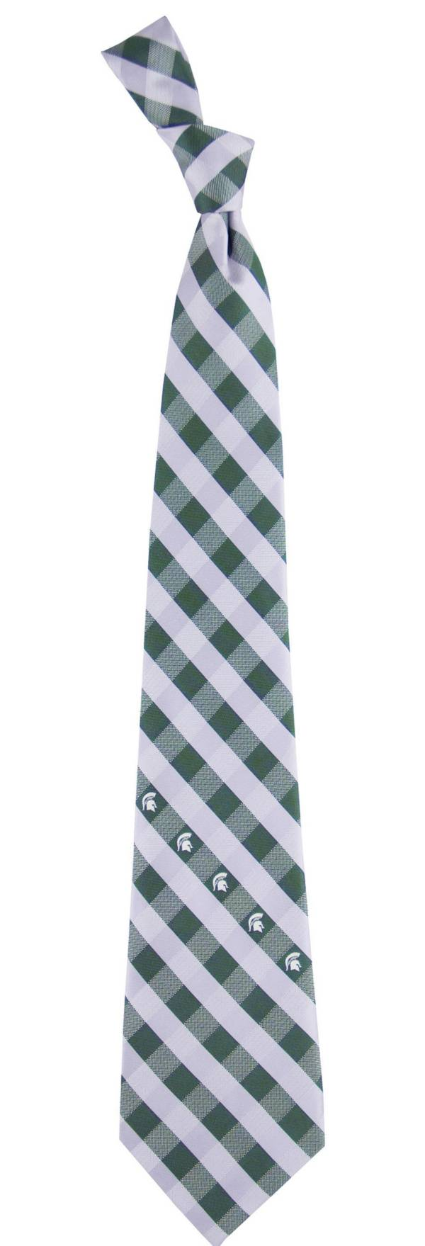 Eagles Wings Michigan State Spartans Check Necktie product image