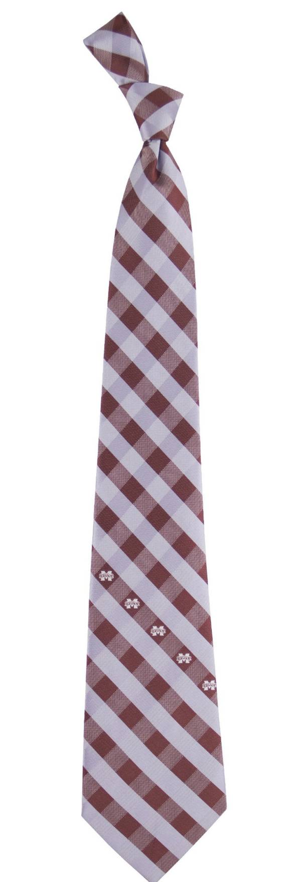 Eagles Wings Missisippi State Bulldogs Check Necktie product image