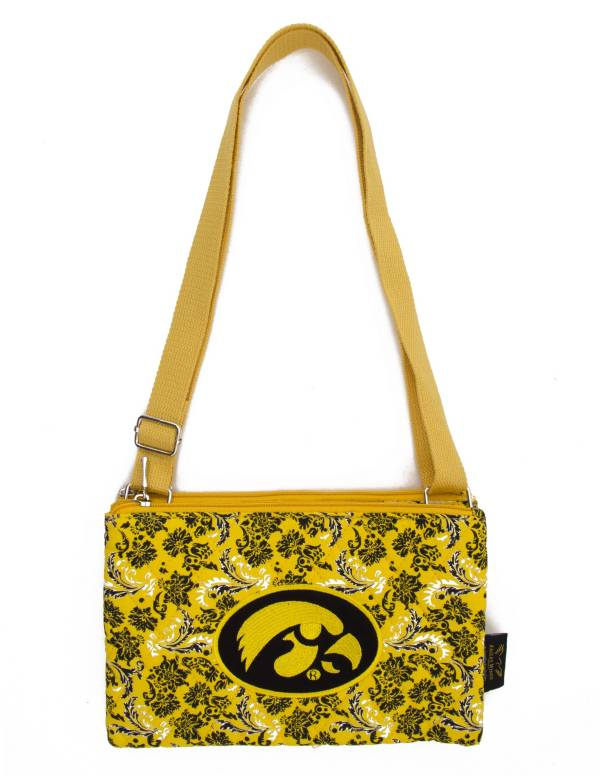 Eagles Wings Iowa Hawkeyes Quilted Cotton Cross Body Purse product image