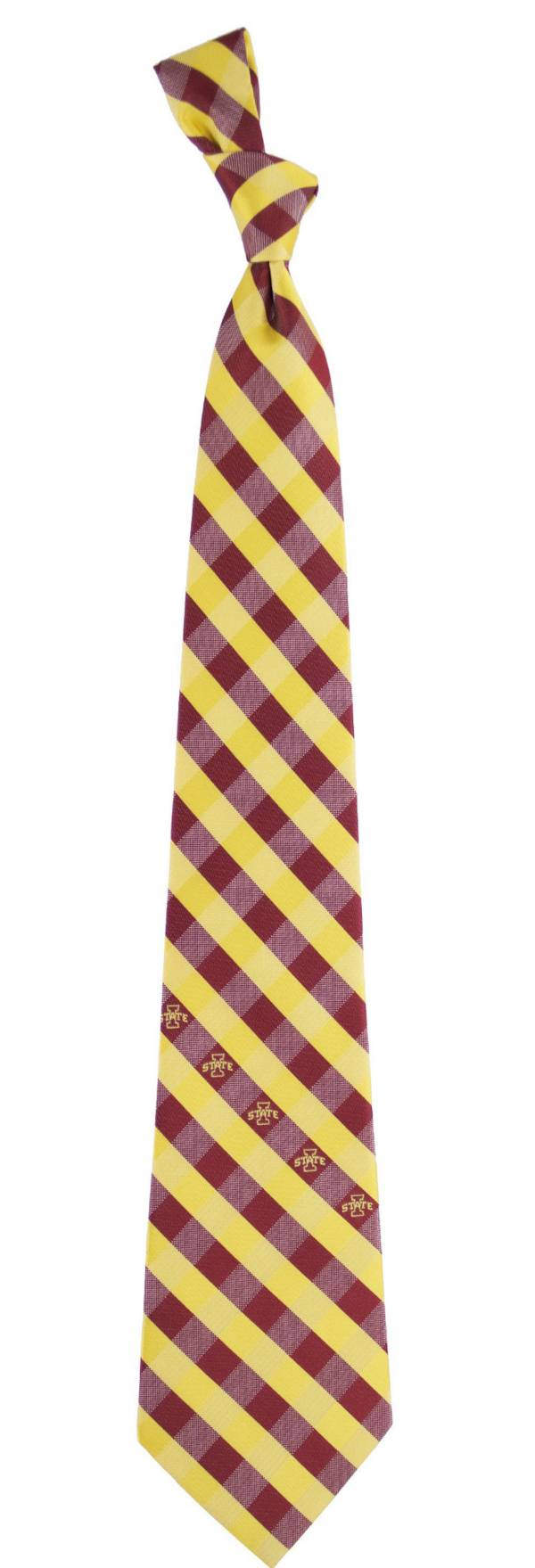 Eagles Wings Iowa State Cyclones Check Necktie product image