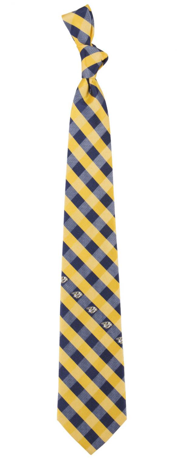 Eagles Wings Nashville Predators Check Necktie product image