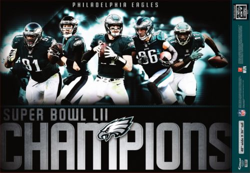 11bf771b3 Fathead Super Bowl LII Champions Philadelphia Eagles Mural Decal ...