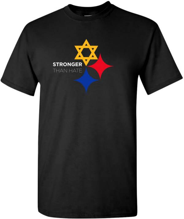 Men's Stronger Than Hate Black T-Shirt product image