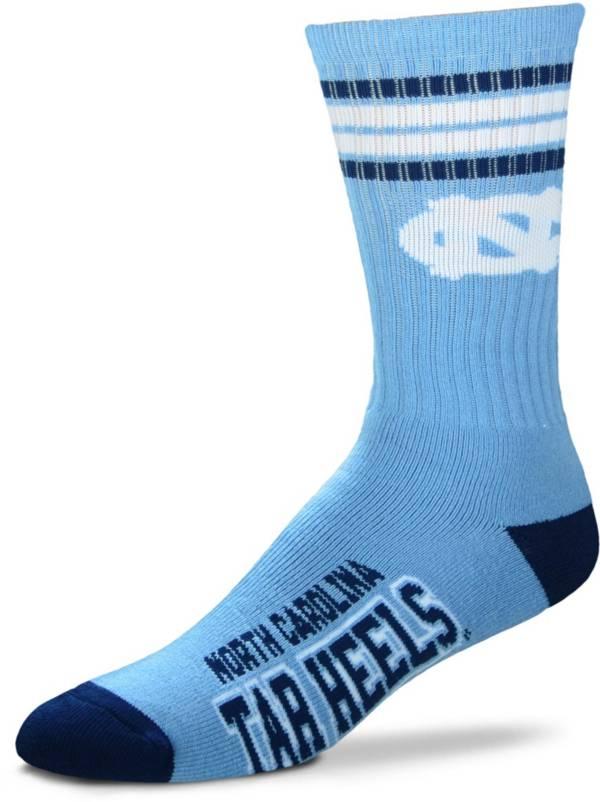 For Bare Feet North Carolina Tar Heels 4-Stripe Crew Socks product image