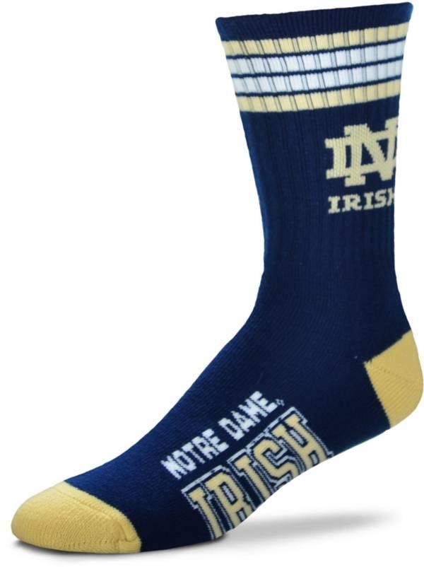 For Bare Feet Notre Dame Fighting Irish 4-Stripe Crew Socks product image