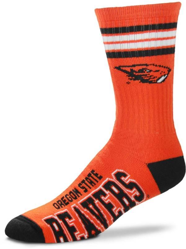 For Bare Feet Oregon State Beavers 4-Stripe Crew Socks product image