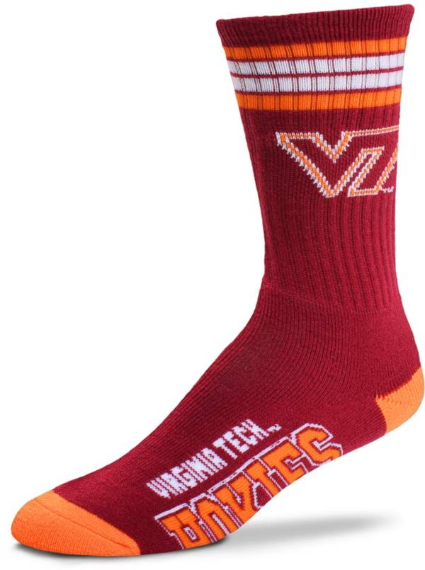 For Bare Feet Virginia Tech Hokies 4-Stripe Deuce Crew Socks product image