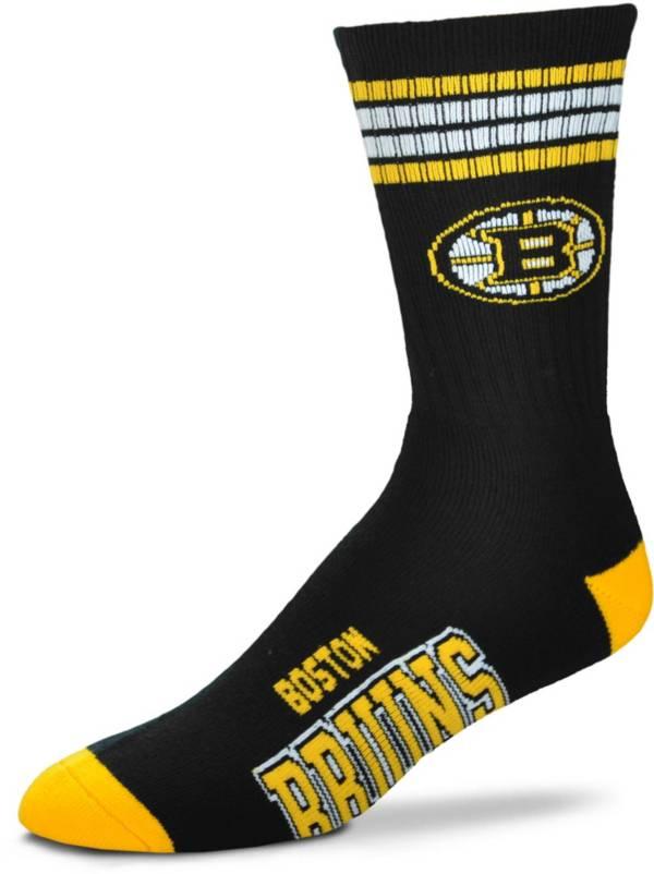 For Bare Feet Boston Bruins 4-Stripe Deuce Crew Socks product image