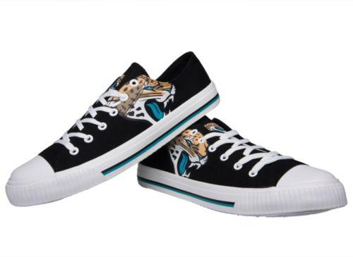 3f1b27ab8e7 FOCO Jacksonville Jaguars Men s Canvas Sneakers