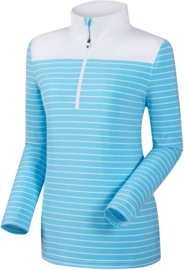 FootJoy Women's Half-Zip Stripe and Solid Yoke Golf Pullover product image
