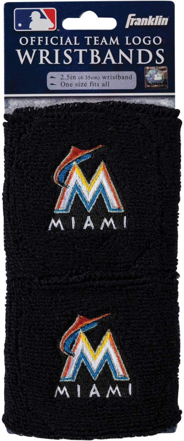 Franklin Miami Marlins Embroidered Wristbands product image