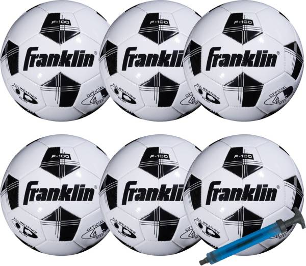Franklin Competition 100 Soccer Ball with Pump Set - 6 Pack product image