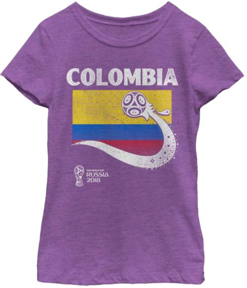 afca52cdc ... 2018 FIFA World Cup Colombia Flag Ball Purple T-Shirt. noImageFound. 1