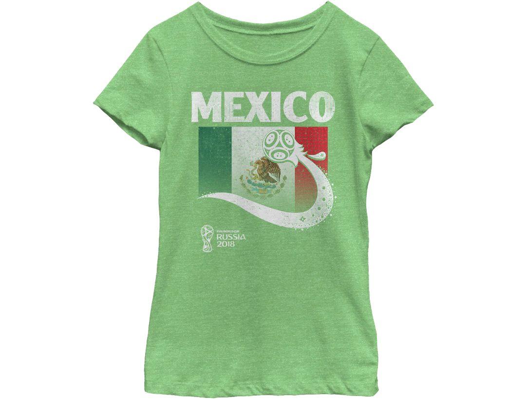 5e1026aac ... 2018 FIFA World Cup Mexico Flag Ball Green T-Shirt. noImageFound. 1