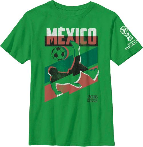 d017f2dc9 Fifth Sun Youth 2018 FIFA World Cup Mexico Jagged Green T-Shirt ...