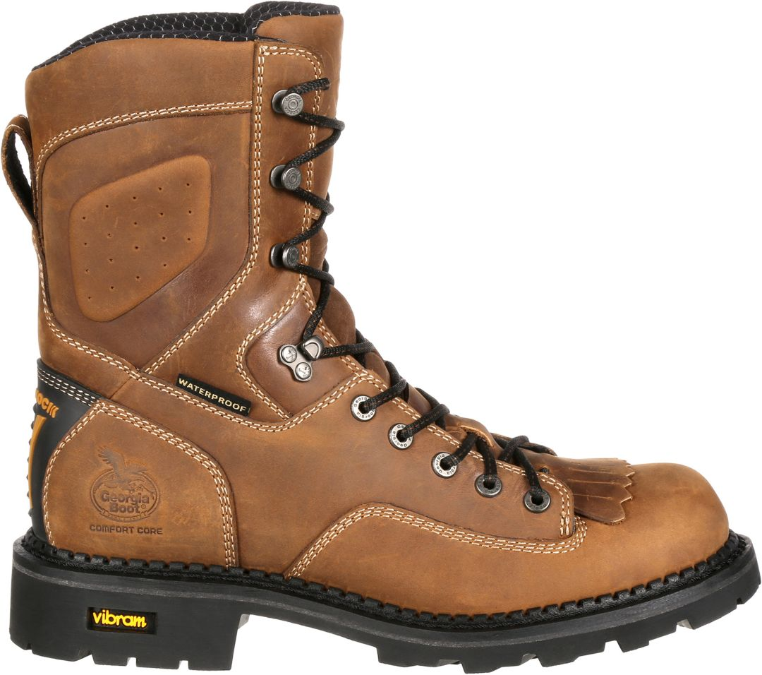 ad4e04b9fe61a Georgia Boot Men's ComfortCore Low Heel Logger EH Waterproof Work Boots.  noImageFound. Previous